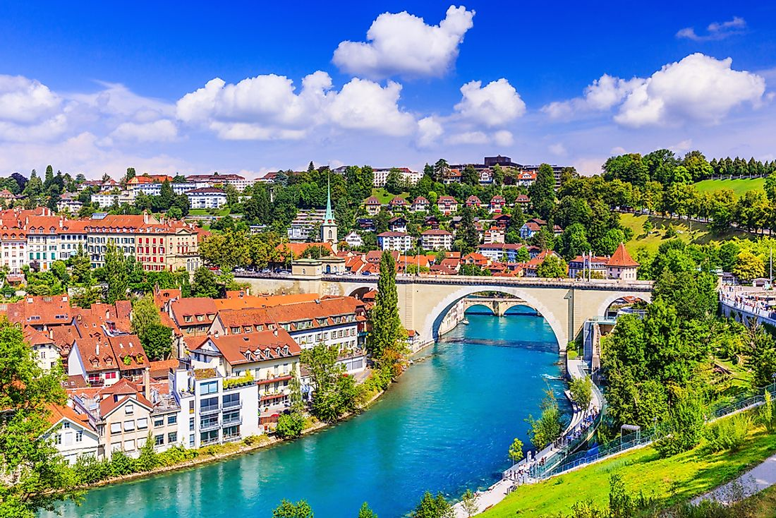 Old city center of Bern, the de-facto capital of Switzerland.