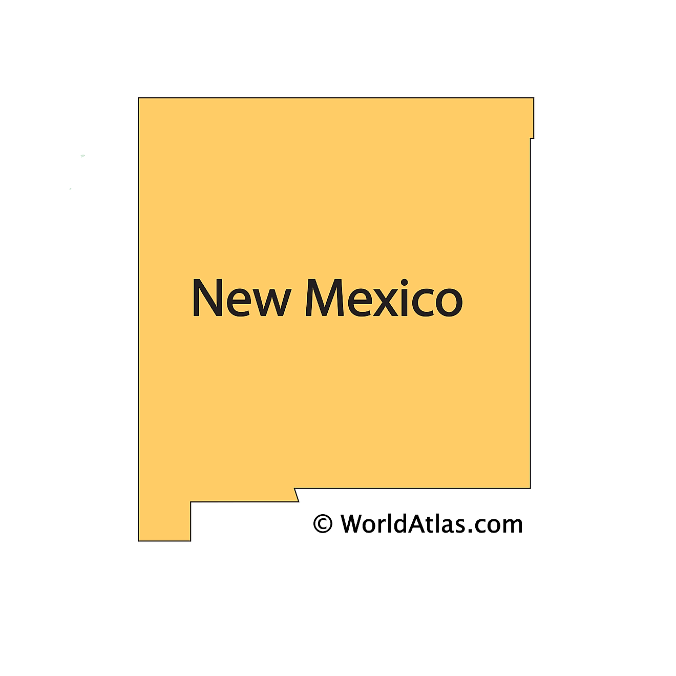 Outline Map of New Mexico
