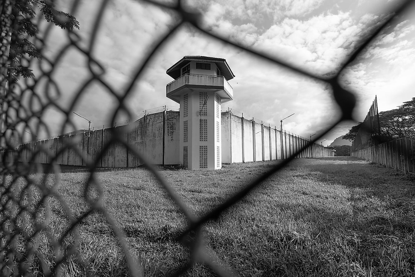 The United States has well over 2 million prisoners and China comes in second with 1.5 million, but China's incarceration rate is only 118 per 100,0000 people. Image credit: MemoryMan/Shutterstock