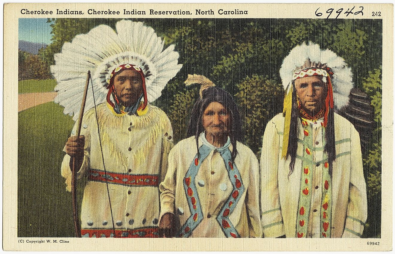 Cherokee Indians, Cherokee Indian Reservation, North Carolina. Image credit: Boston Public Library/Flickr.com
