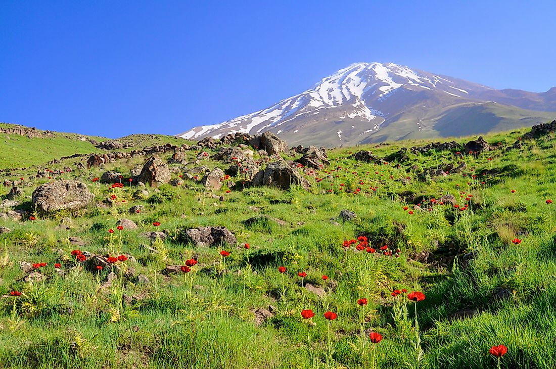 Damavand, the tallest volcano in Asia.