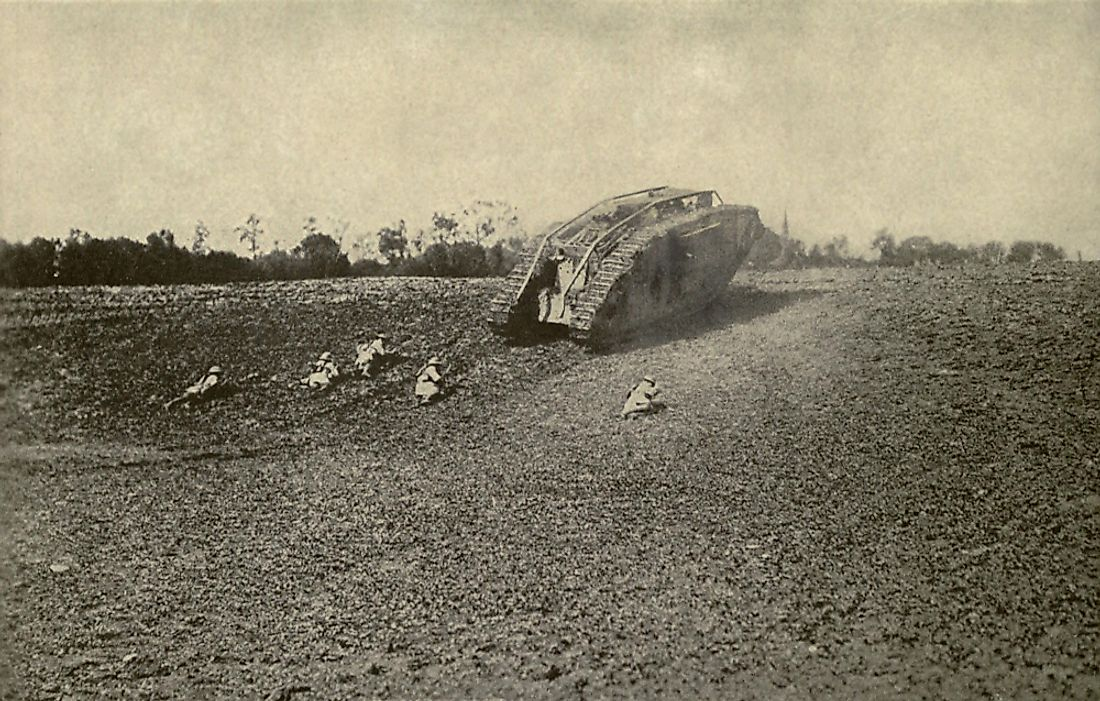 The Battle of Cambrai is famous for being the first large scale use of tanks and artillery in a warfare. Editorial credit: Everett Historical / Shutterstock.com