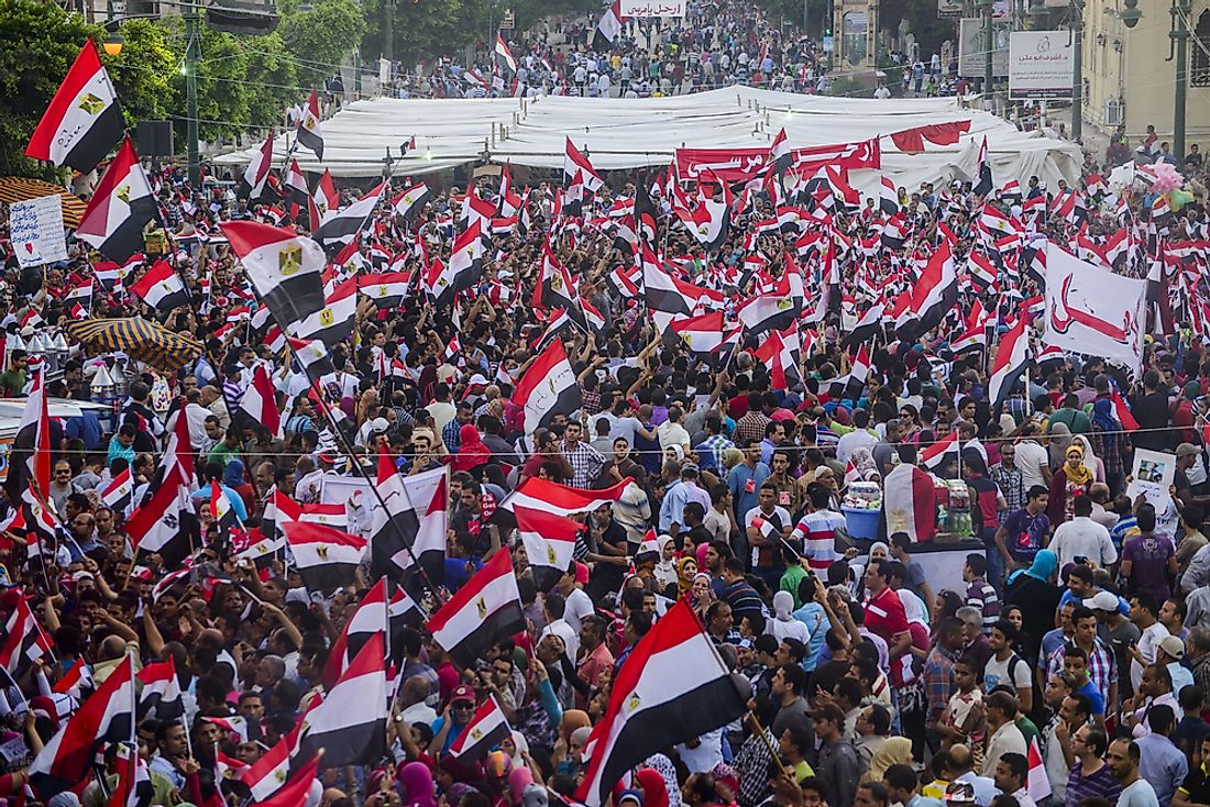 In Egypt, the Arab Spring resulted in anti-government protests. Editorial credit: MidoSemsem / Shutterstock.com