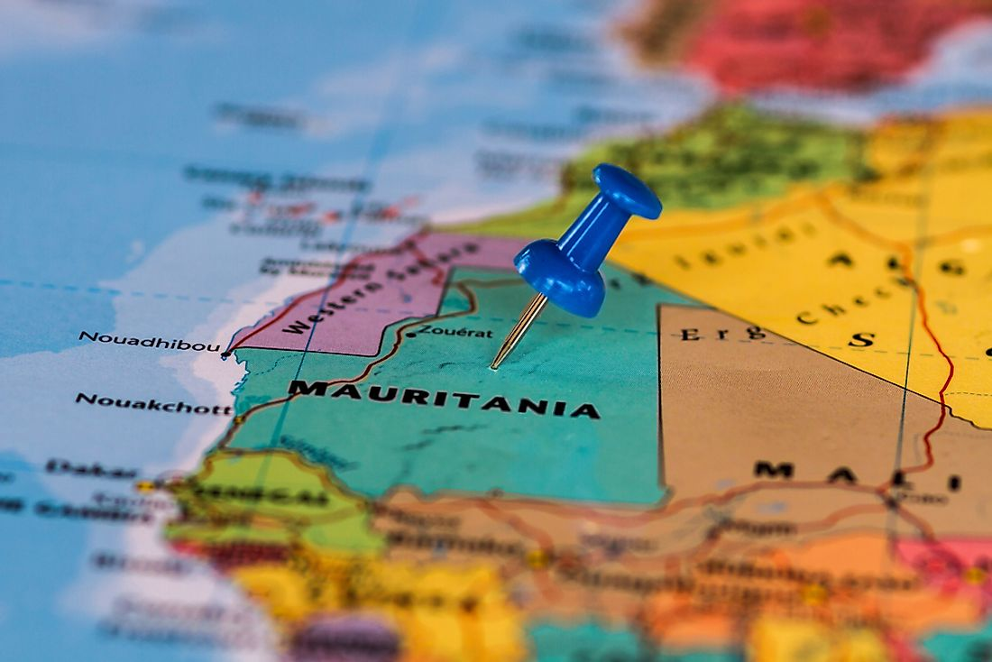 Mauritania's location on a map.