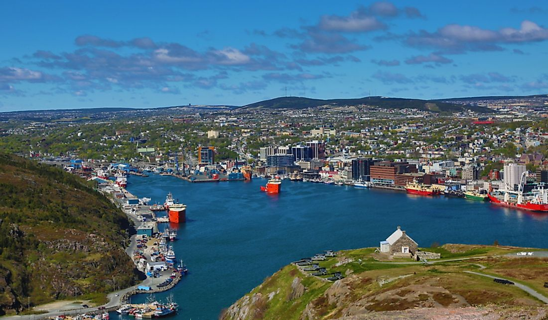 City of St. John's on the St. John's Harbour. Editorial credit: Art Babych / Shutterstock.com