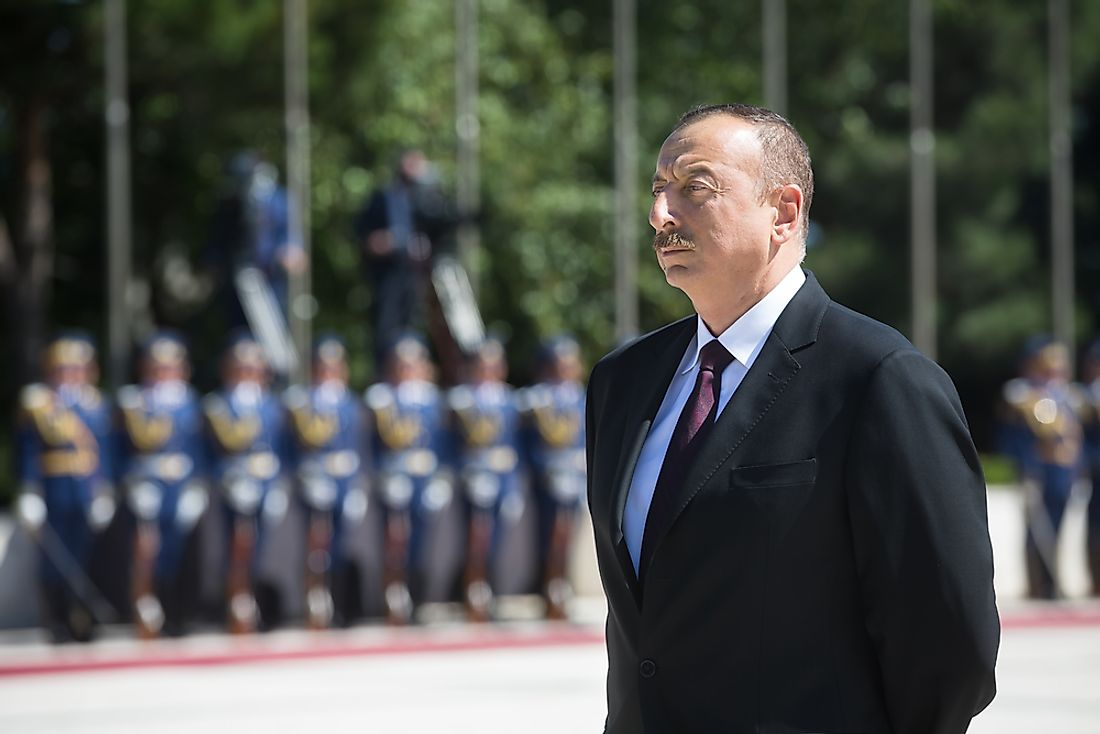 Ilham Aliyev, the incumbent president of Azerbaijan. Editorial credit: Drop of Light / Shutterstock.com.