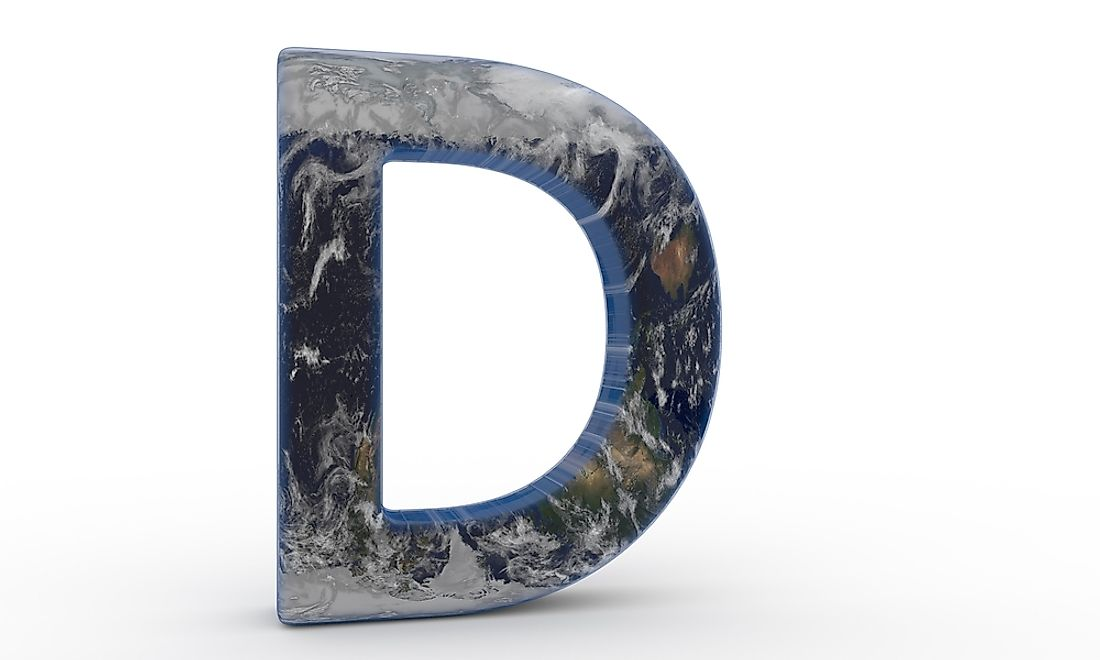 Five countries begin with the letter D.