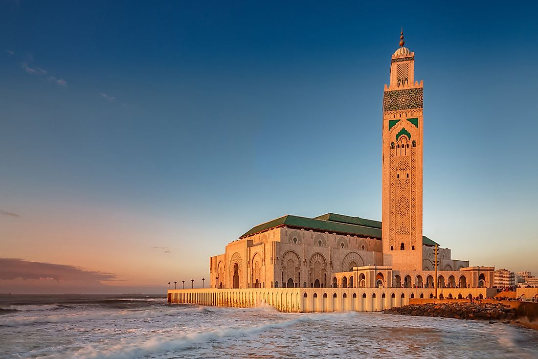 A mosque in Casablanca, Morocco. Islam is one of the most popular religions in Africa.