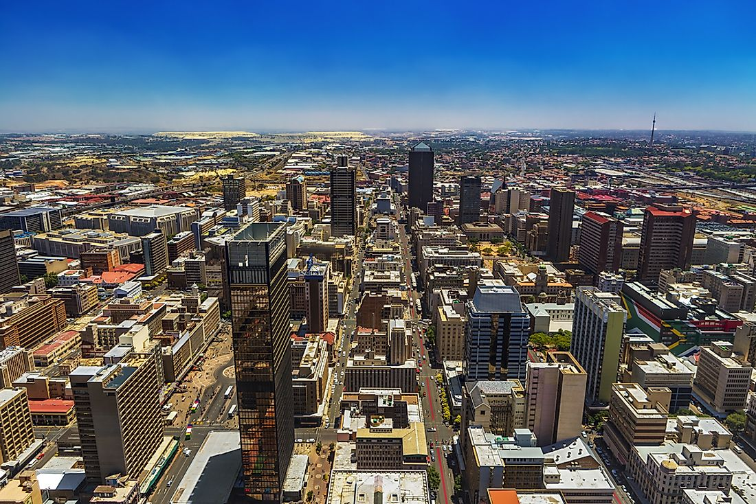 Johannesburg is the capital of Gauteng, the largest province by population.