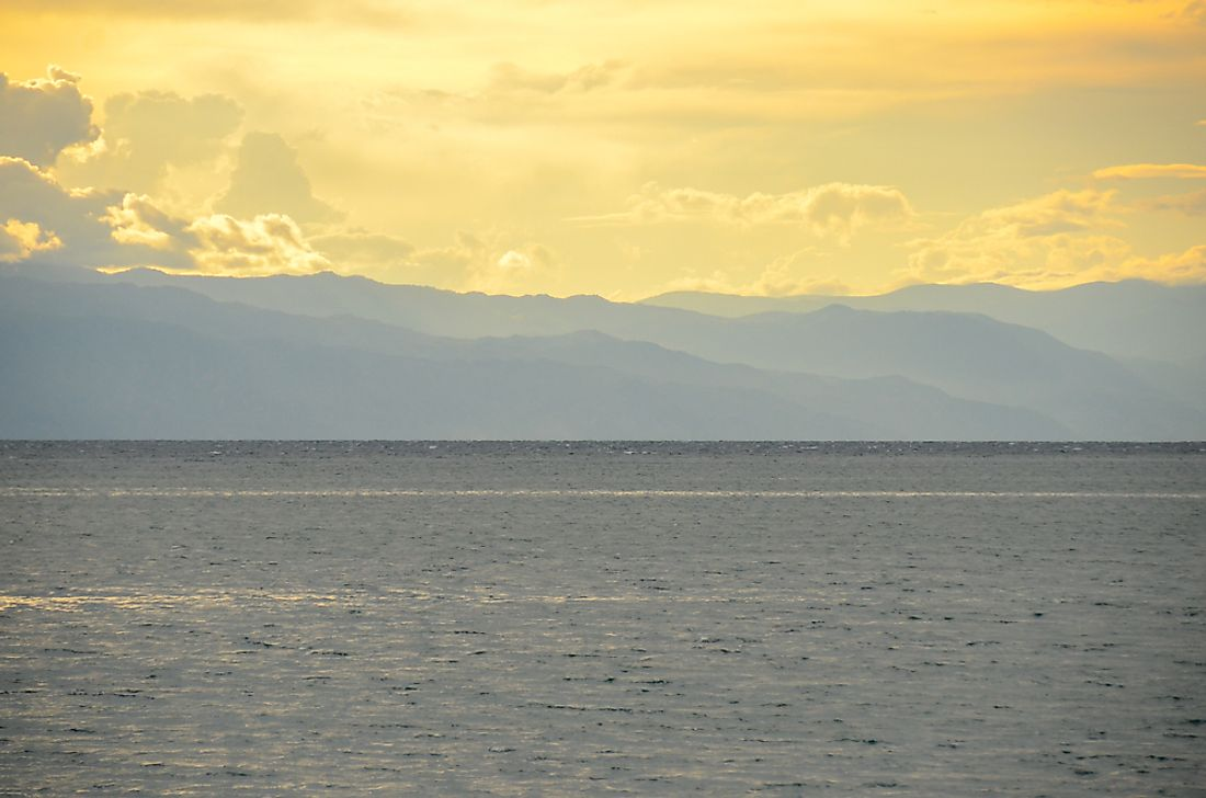 Lake Tanganyika, one of the largest lakes in the world in terms of volume.