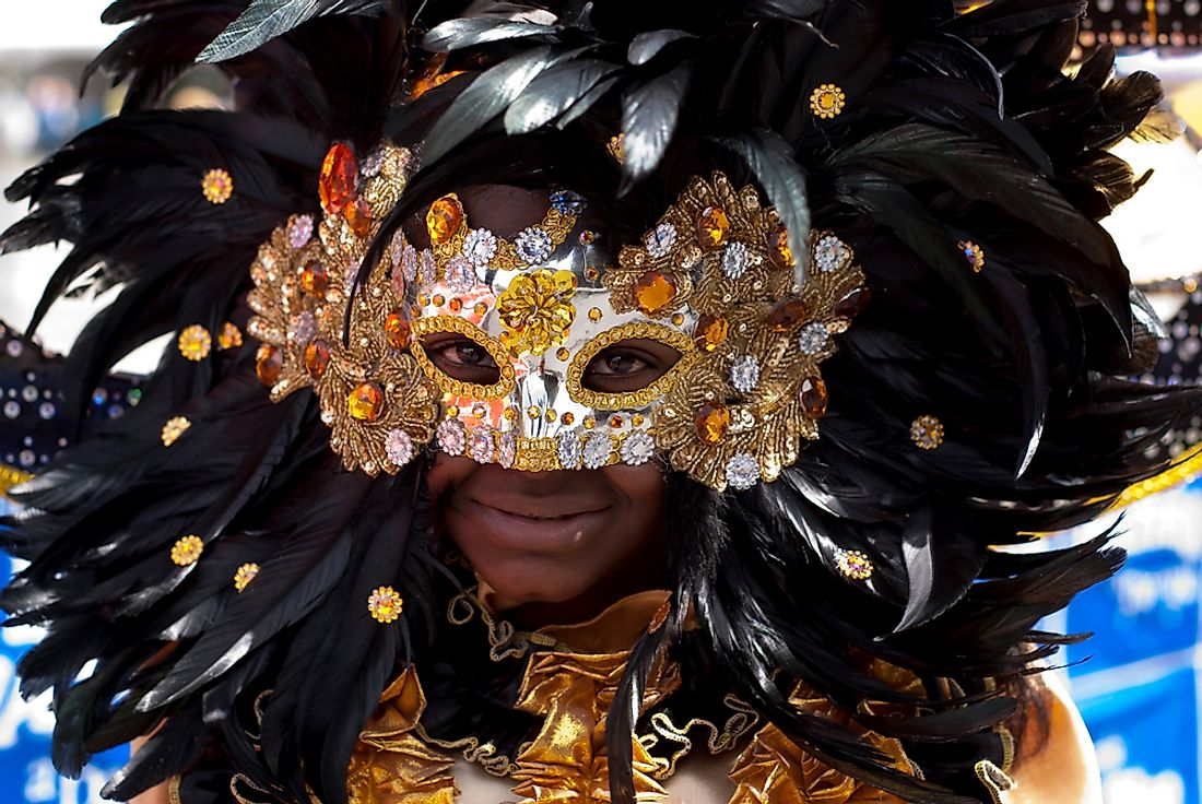 Carnival celebrations in Trinidad and Tobago. Editorial credit: Salim October / Shutterstock.com.