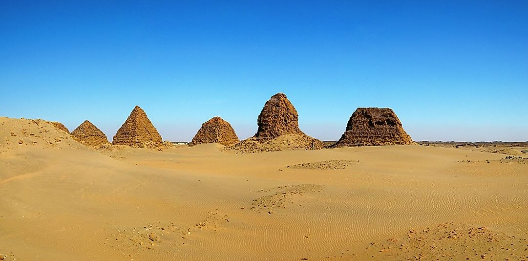 Nuri pyramids at Napata in Sudan.