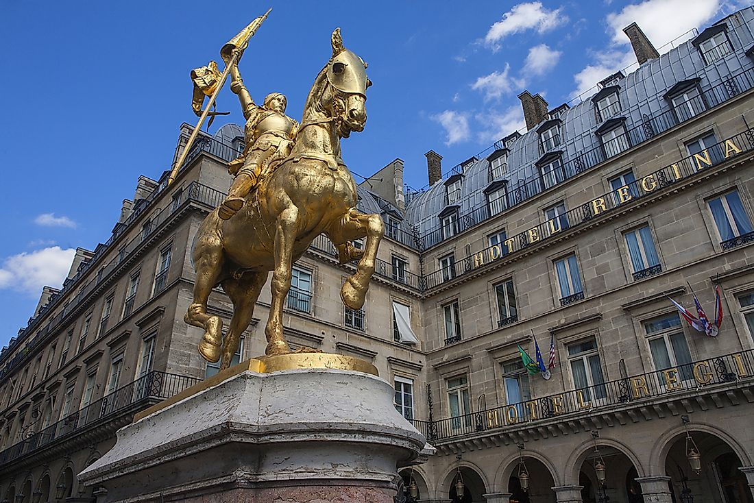 A monument to Joan of Arc in Paris. Editorial credit: sergey pozhoga / Shutterstock.com.