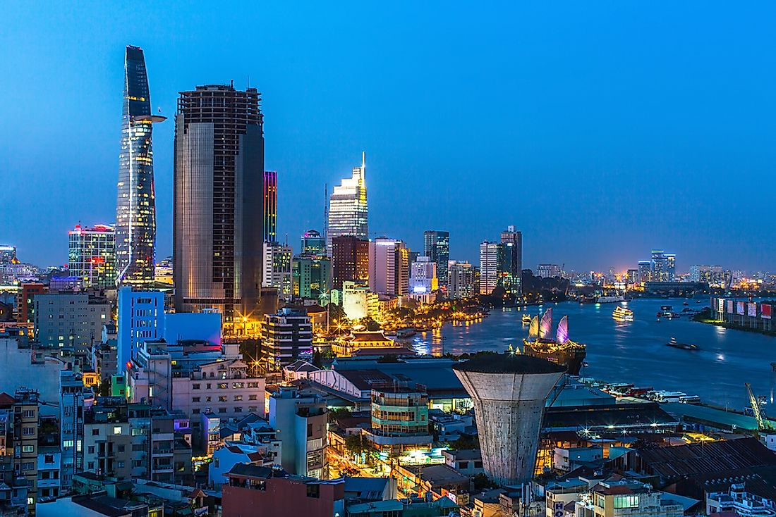 The bright lights of Ho Chi Minh City.