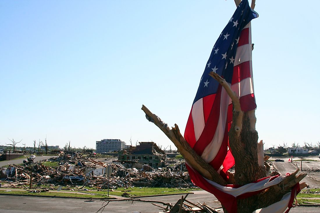 The US is prone to natural disasters such a hurricanes, tornadoes, floods, fires, and more. Editorial credit: Melissa Brandes / Shutterstock.com