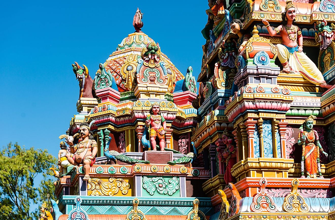 A Hindu temple in Mauritius. Image credit: Karl Ahnee/Shutterstock.com