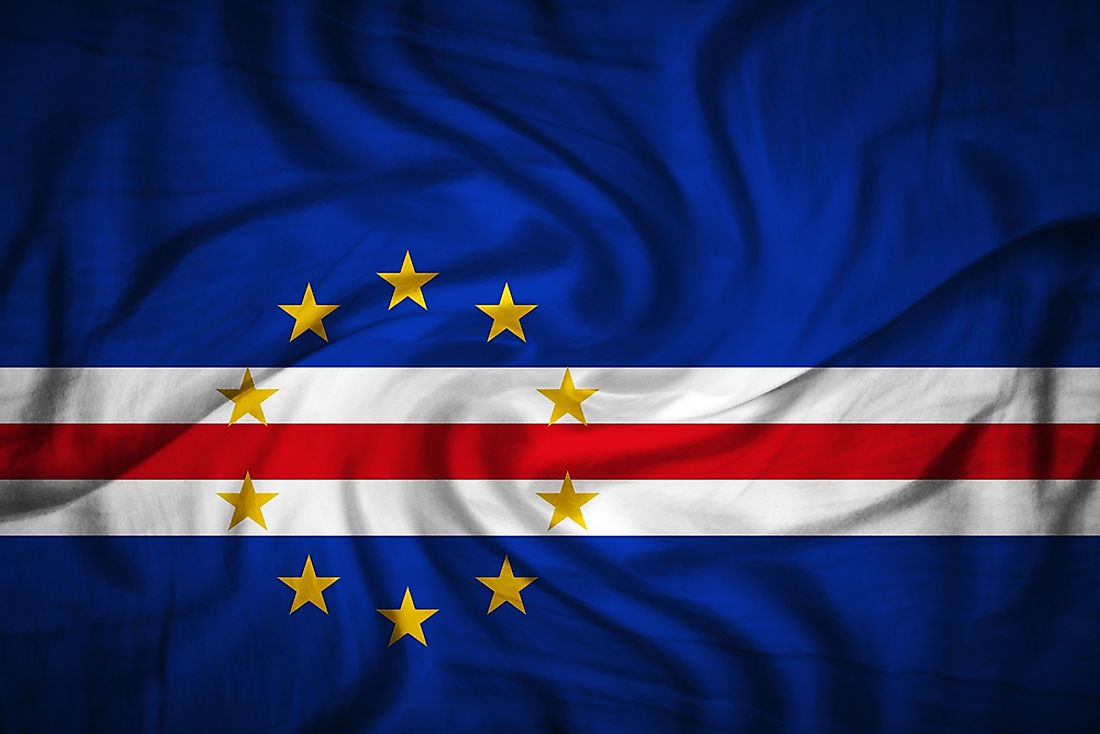 The official flag of Cape Verde.