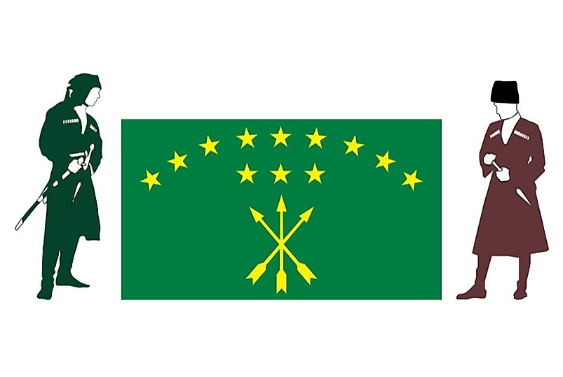 The twelve stars on the Circassian flag represent the twelve sub-tribes.
