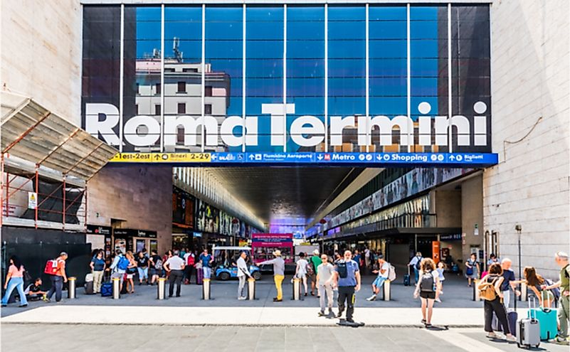 Termini is Rome's biggest train station, and one of Europe's largest as well. Editorial credit: Resul Muslu / Shutterstock.com.