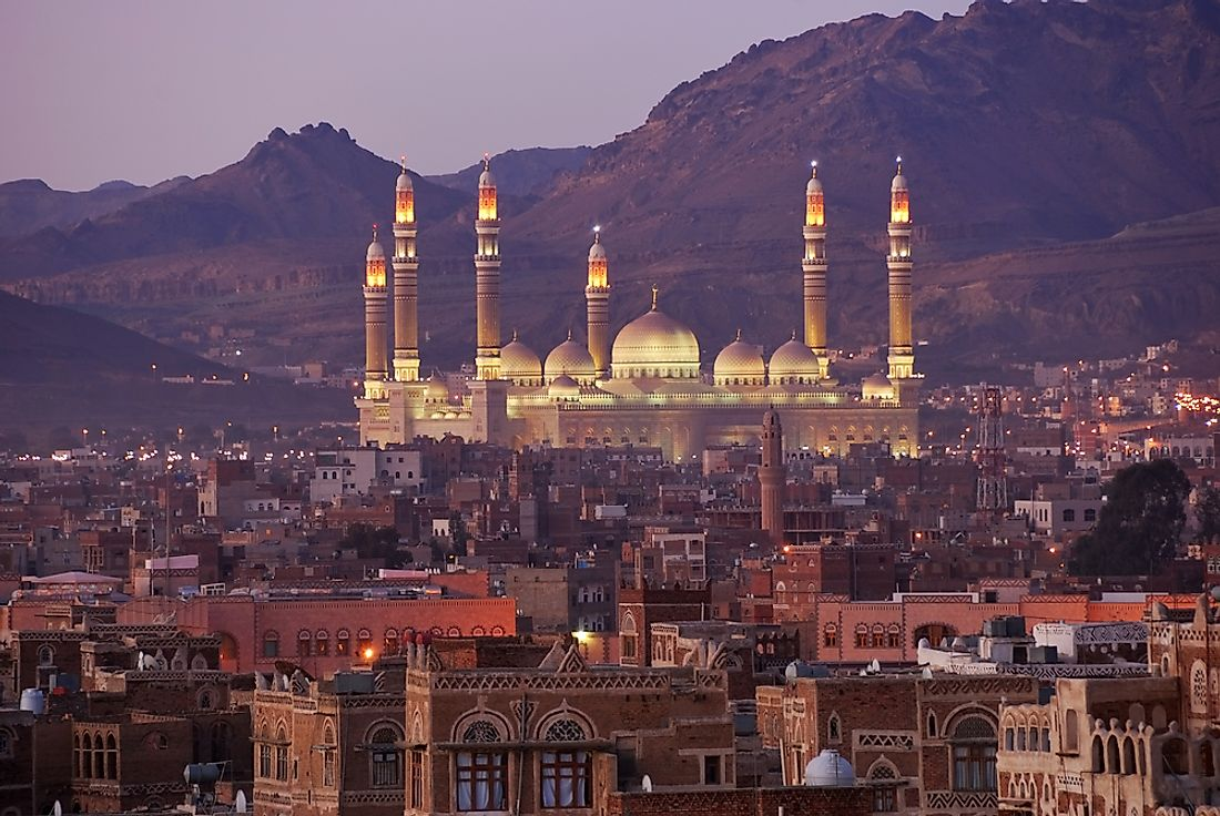 Sana'a is famous for its historic buildings and mosques.