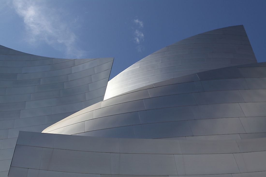 Postmodern architecture is unmistakably unique, such as the Walt Disney Concert Hall in Los Angeles, pictured here.