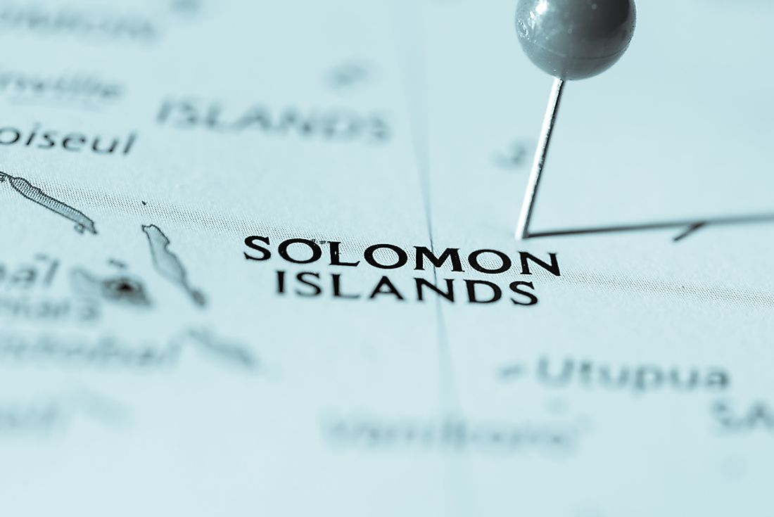 English is the official language of the Solomon Islands, located in the southwestern region of the Pacific Ocean.
