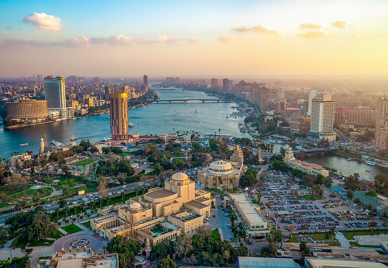 Panorama of Cairo cityscape taken during the sunset from the famous Cairo tower, Cairo, Egypt. Image credit: Givaga/Shutterstock.com
