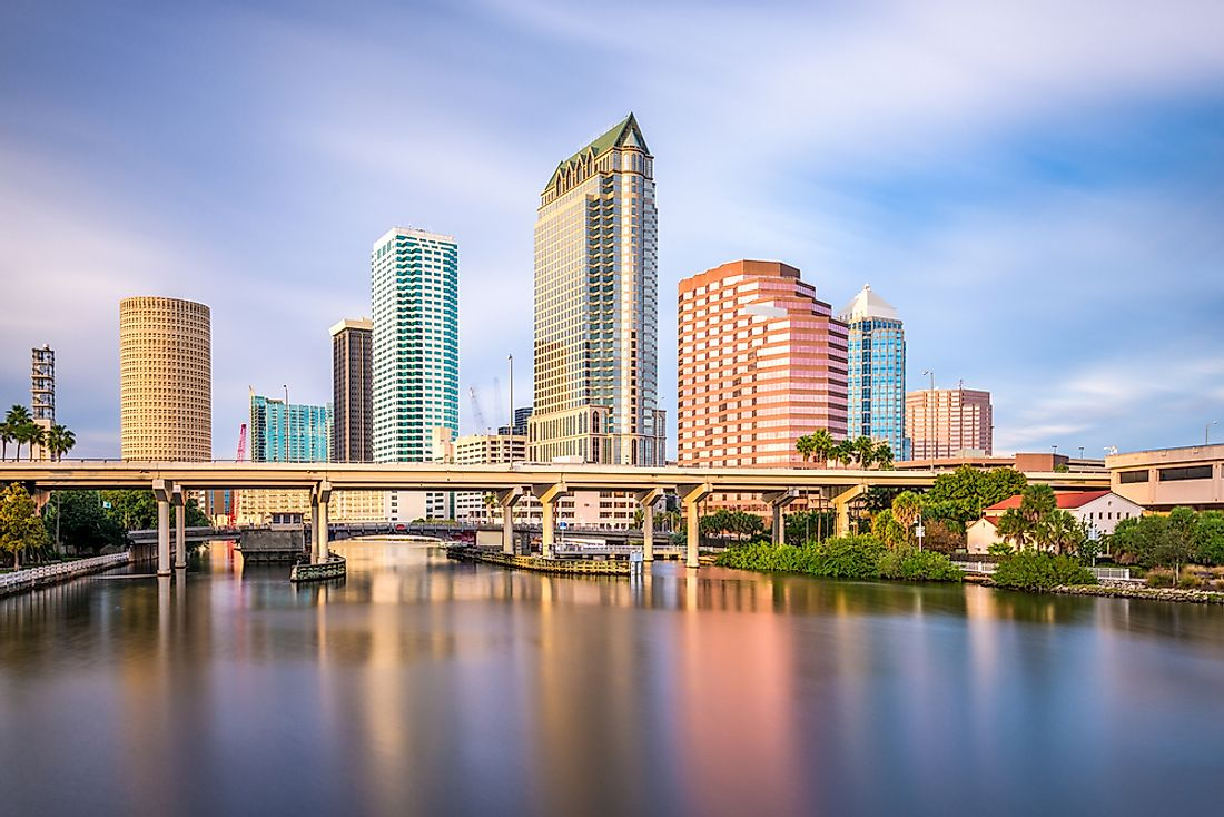 Tampa is home to more than 127 high-rise buildings out of which 15 rise to more than 280 feet high.