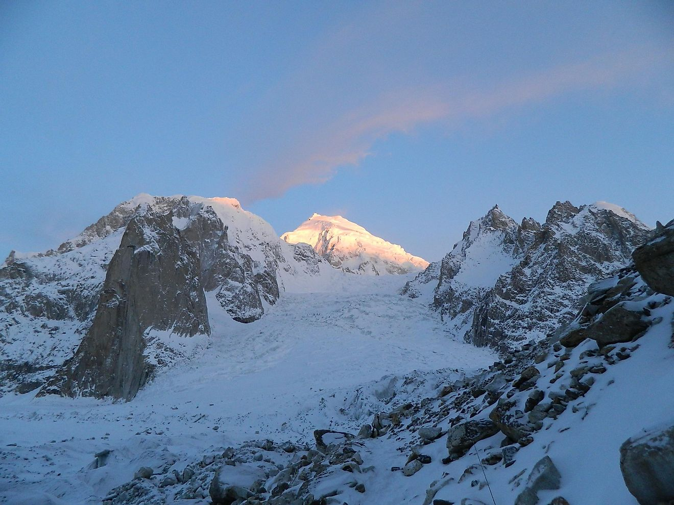 Sunset At The Siachen Glacier, The Second Longest Non-Polar Glacier In The World.