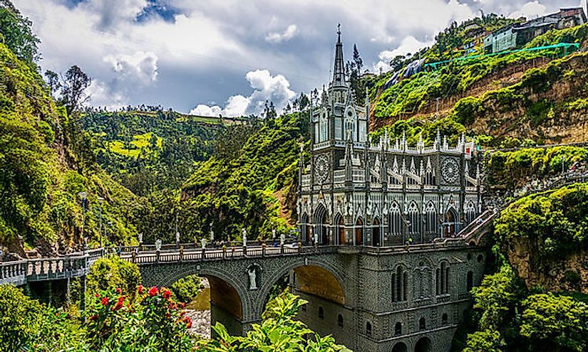 The Las Lajas Sanctuary, a basilica church in Nariño, is one of the most spectacular wonders of Colombia.
