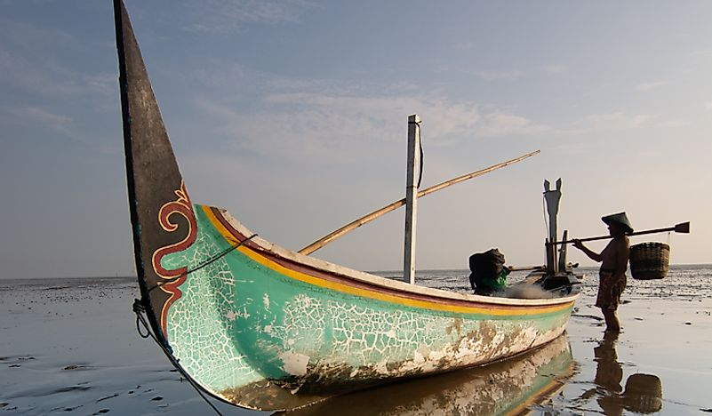 A fishing boat in Tonga.