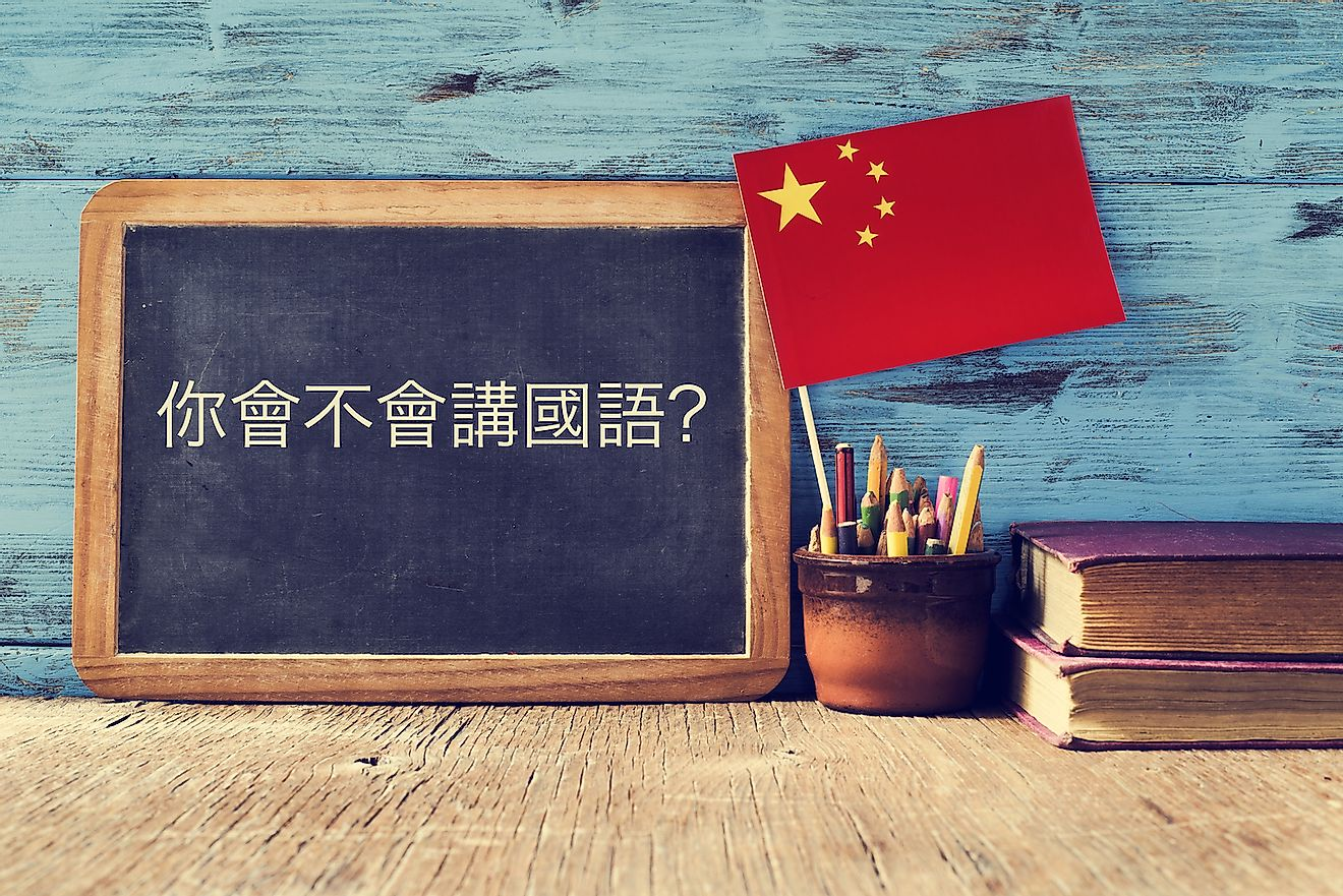 Mandarin Chinese is the most prominent language in China. Image credit: Nito/Shutterstock.com