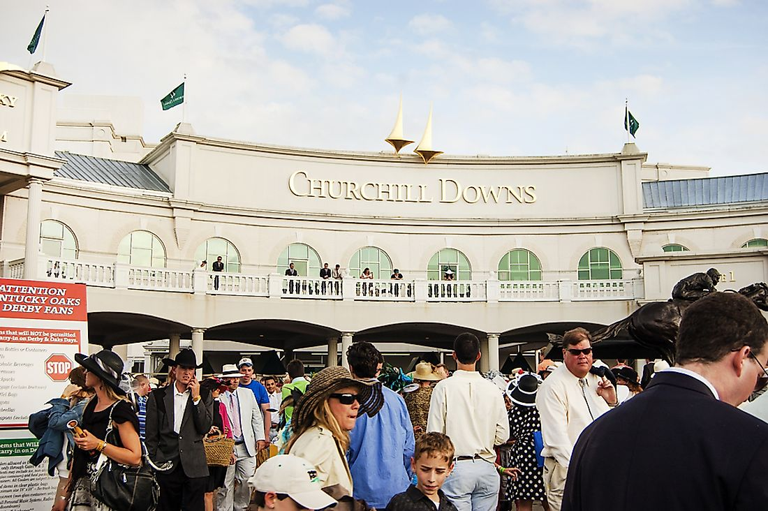 People are the Kentucky Derby. Editorial credit: jessica.kirsh / Shutterstock.com.