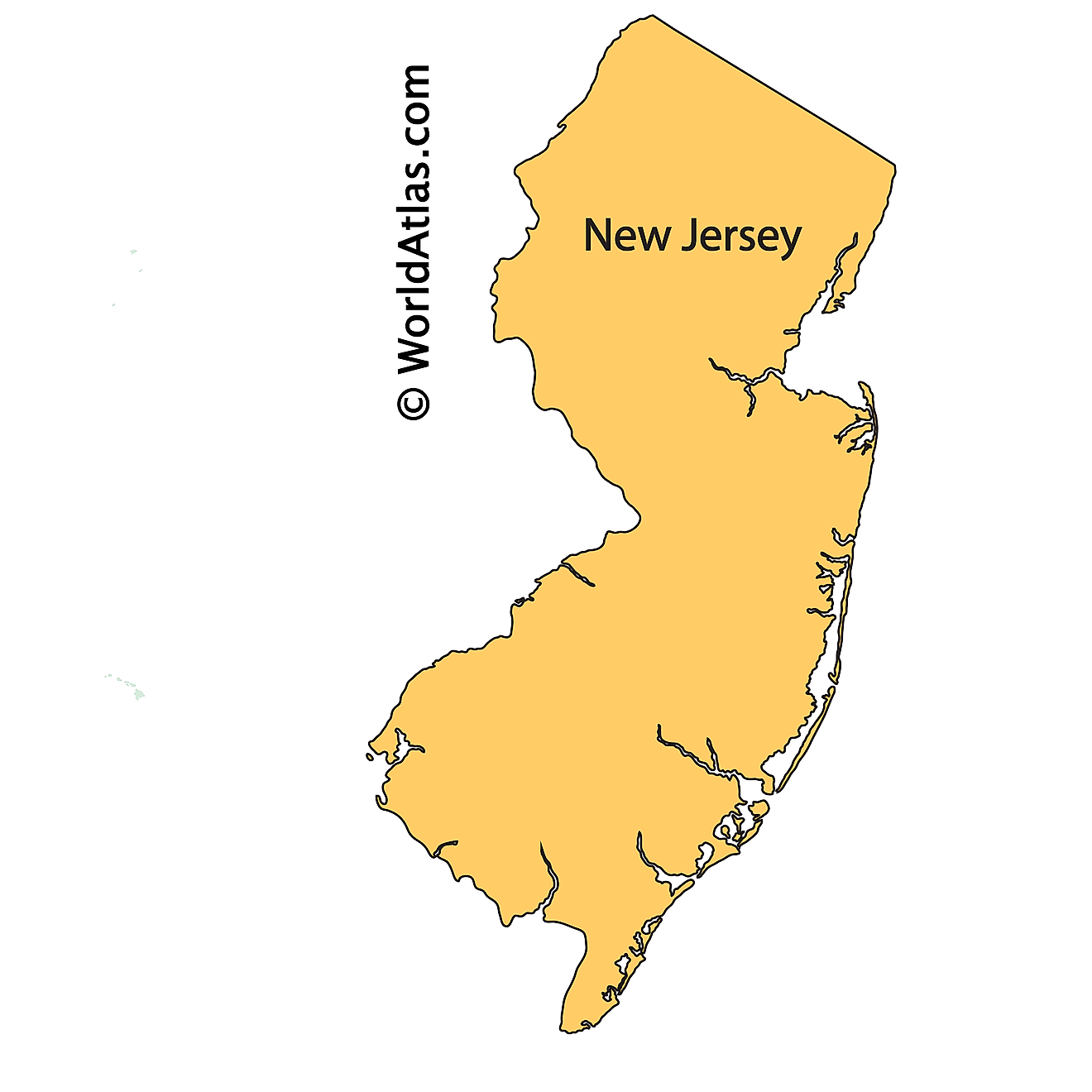 Outline Map of New Jersey