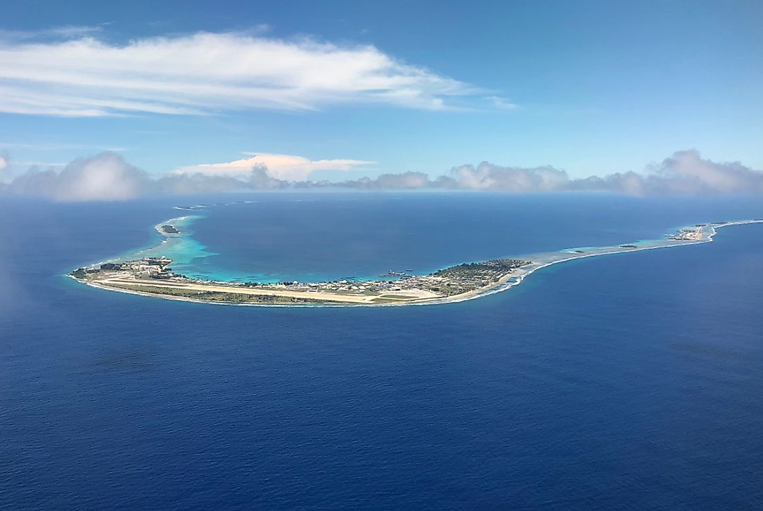 The Kwajalein Atoll in the Marshall Islands.