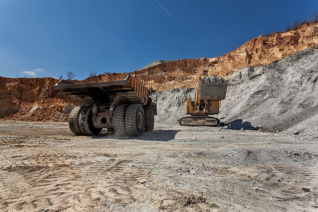 A copper mine in Serbia. Editorial credit: Bora030 / Shutterstock.com.