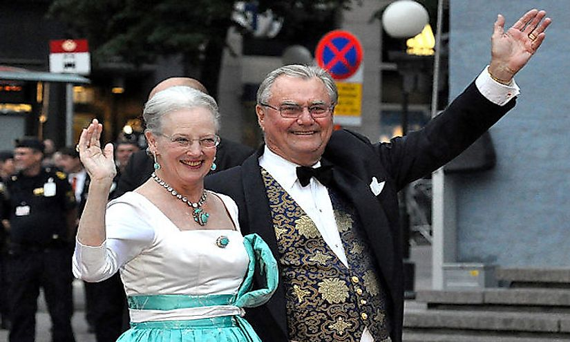 Queen Margrethe II and her consort, Prince Henrik, in 2010.