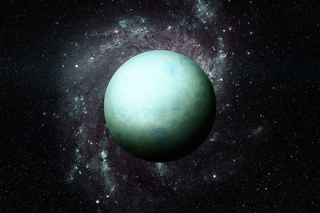 A 3D rendering of Uranus.