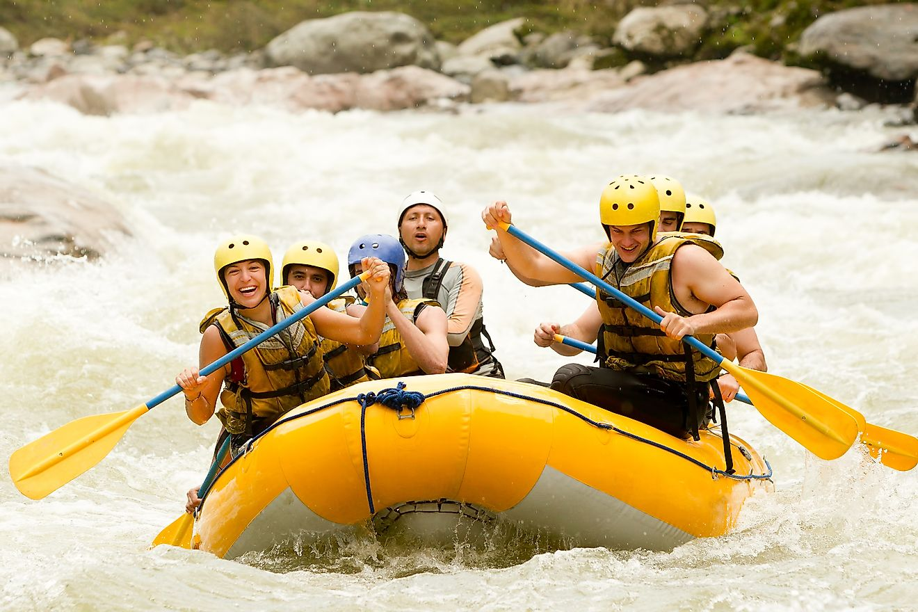 White water rafting is an extreme adventure sport that attracts many to America's raging whitewaters. Image credit: Ammit Jack/Shutterstock.com