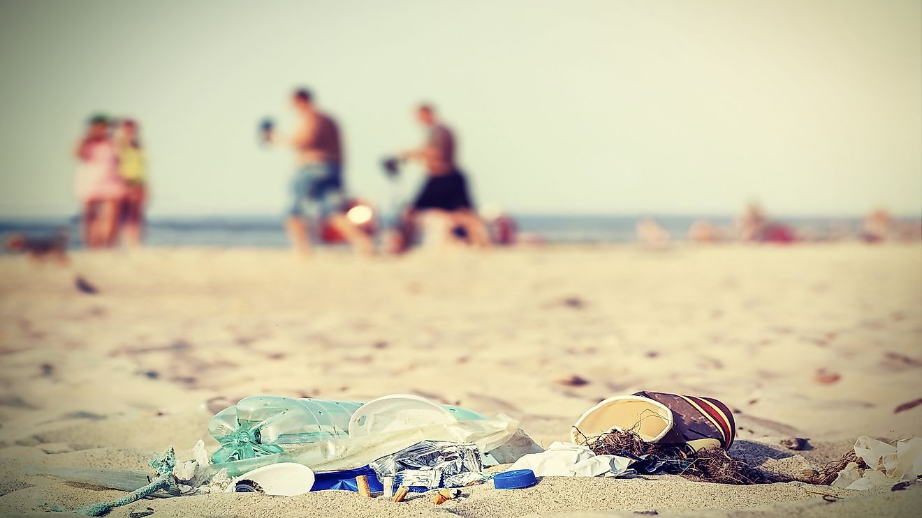 Many beach destinations are ruined by littering by tourists.