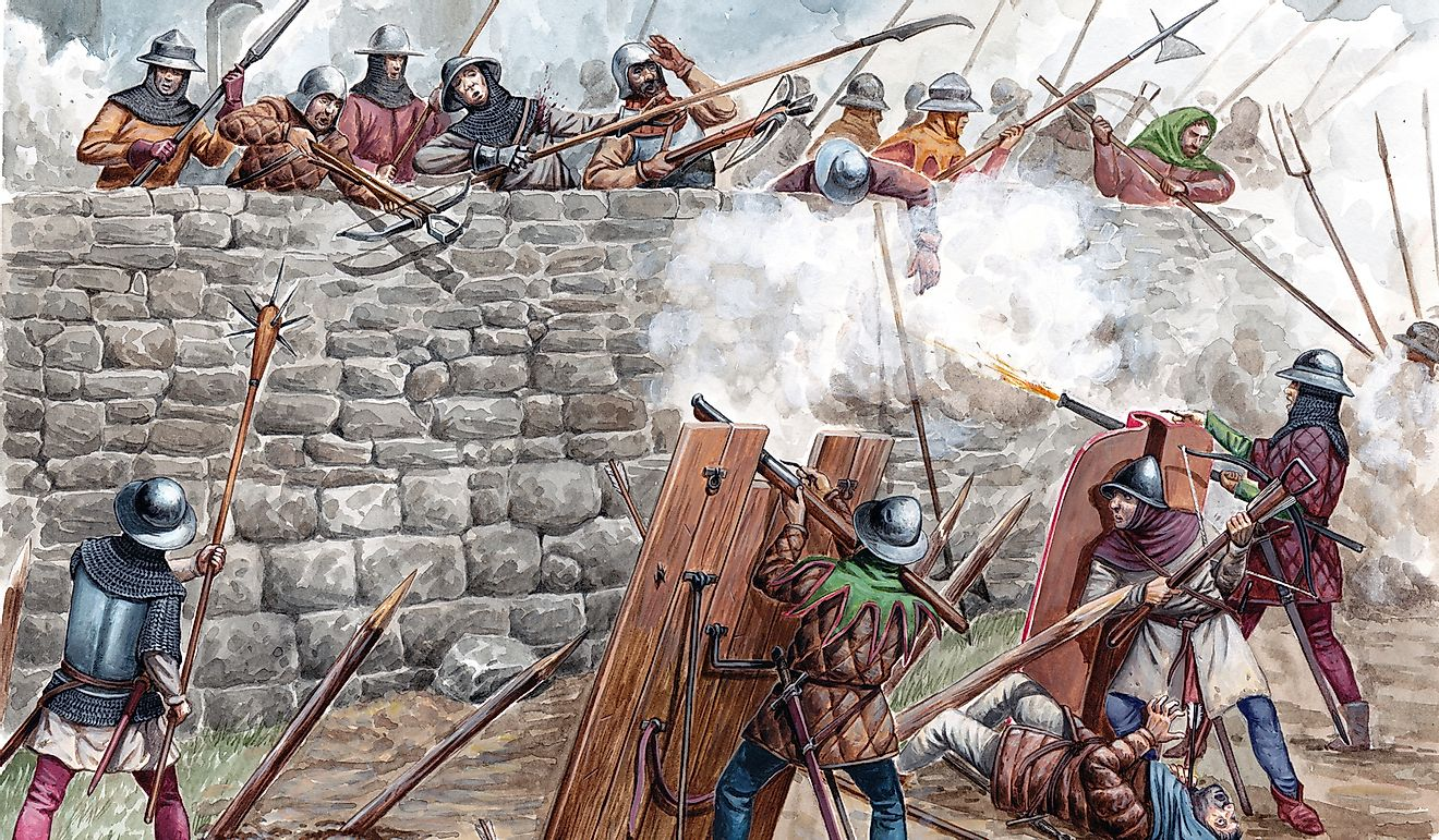 Acrylic Illustration of the Hussite battle.