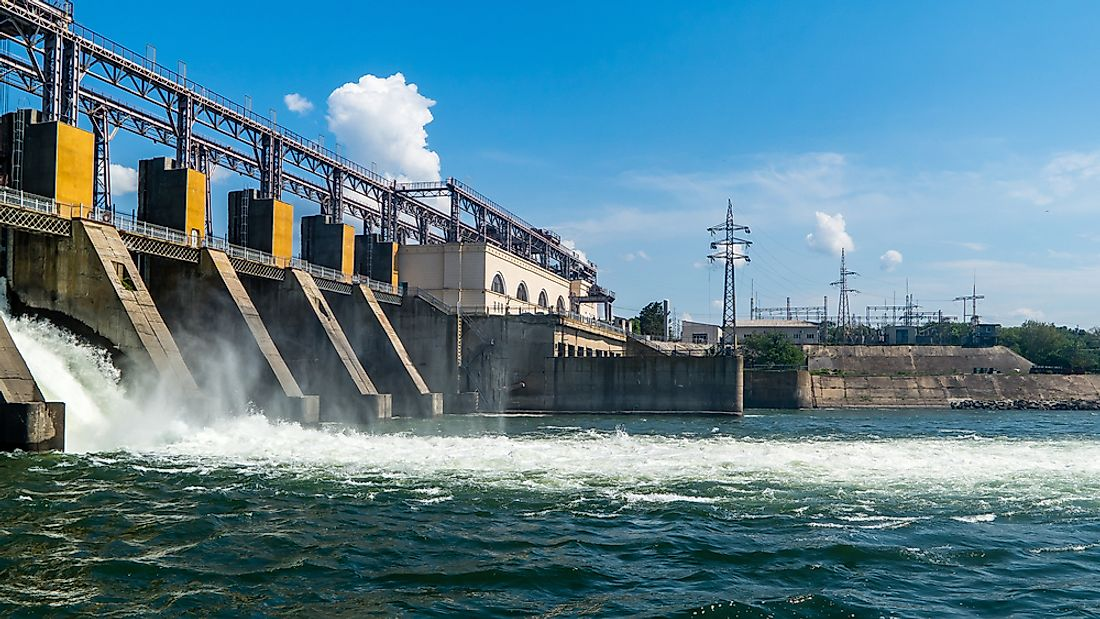A hydroelectric power plant.