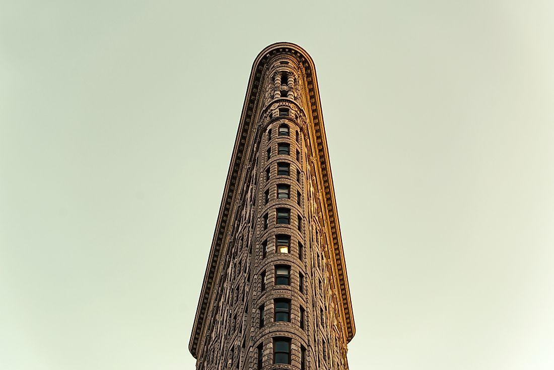 The flat iron building is one of the most famous examples of New York's early skyscrapers.