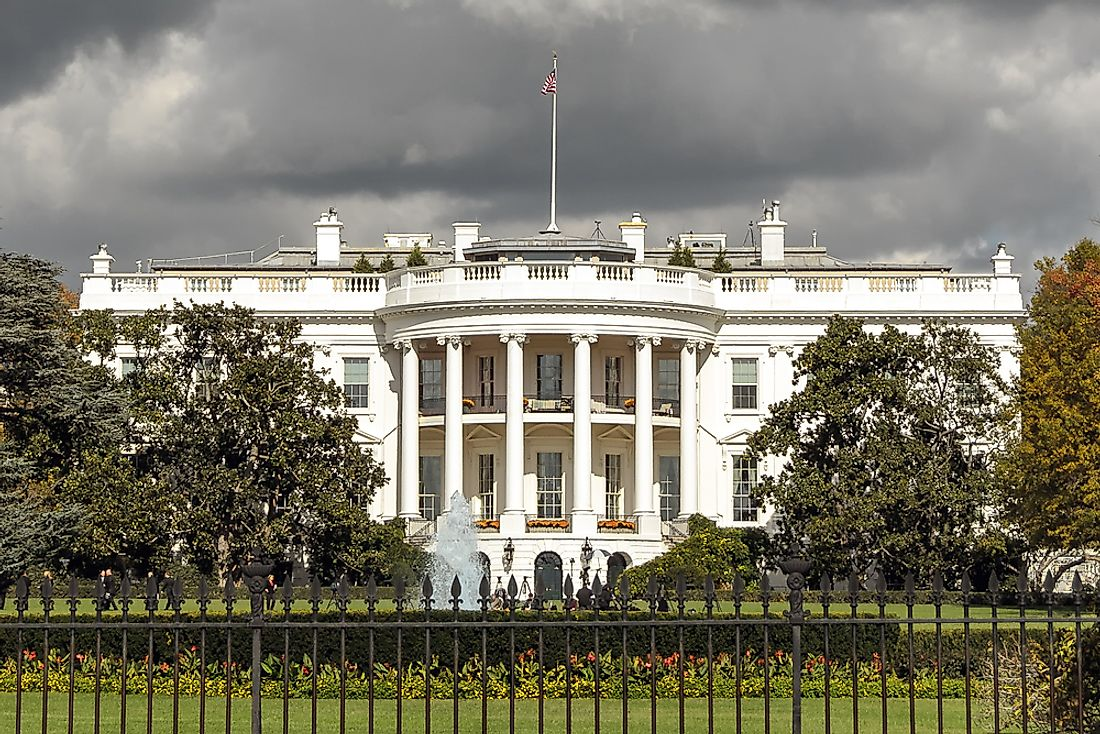 The White House was rebuilt from 1814 to 1817.