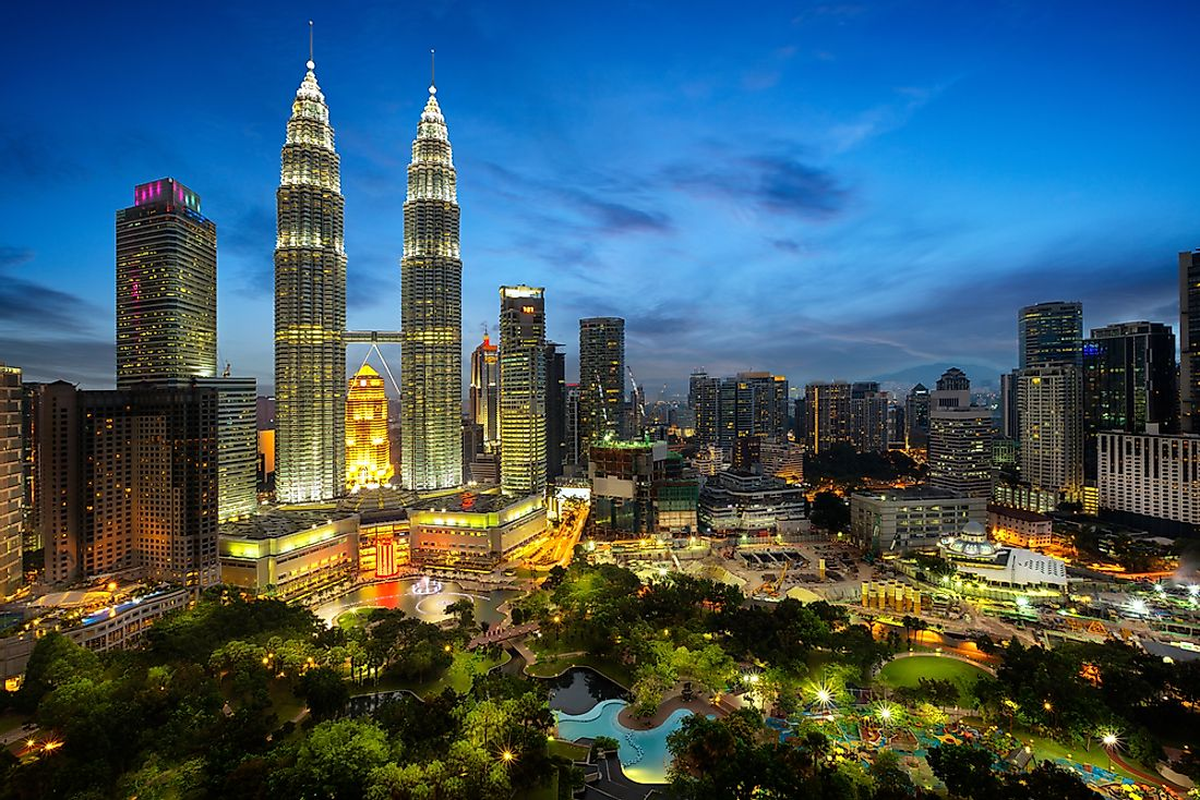 The cityscape of Kuala Lumpur in Malaysia, one of the most visited cities in the country.