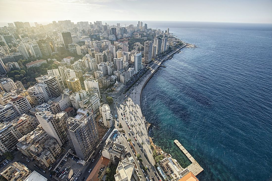 The skyline of Beirut.