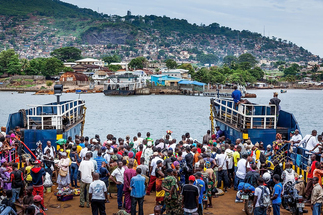 Ferry to Freetown port of Sierra Leone. Image credit: robertonencini / Shutterstock.com