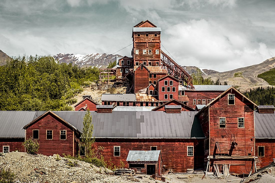 The mining town of Kennecott, Alaska was abandoned in 1938.