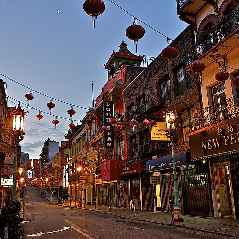 San Francisco's Chinatown has been an Asian American cultural hub since before the American Civil War.