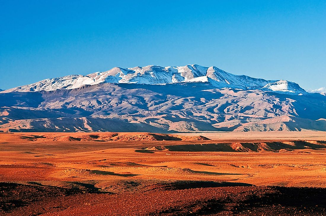 The Atlas Mountains.